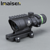 4x32 BLACK Color Tactical style rifle scope red dot Green Optical fiber 20mm Rail