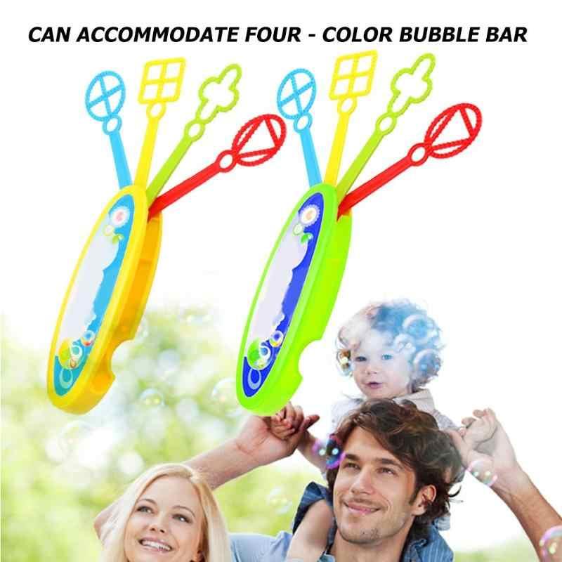 Мини Портативный пузырь палочка палку пузырь воздуходувка станок Детский подарок на открытом воздухе игрушки мыло поднос для пузырьков дует пузырь