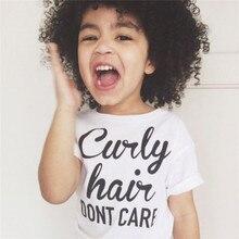 Белый буквенный принт, летние футболки для маленьких девочек, детские футболки для мальчиков и девочек, одежда, хлопковые топы для малышей, футболки для маленьких девочек