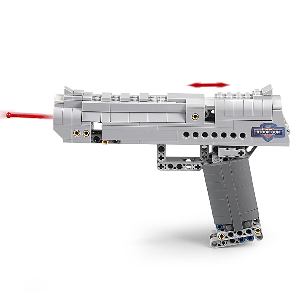 Building Blocks Toy Kit Desert Eagle toy gun for boys fire bullets Technic  DIY bricks Pistol UZI toys for children kids 3