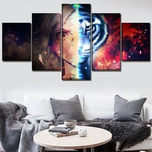 Canvas Painting Wall Art Poster 5 Panel Anime Bungou Stray Dogs Modular Pictures For Living Room Home Decorative Framework