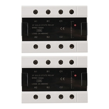 цена на Load 24-480VAC Three Phase Solid State Relay 100DA/120DA