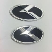 2 piece K Logo 3D sticker Car Front Rear Steering Badge Wheel Center Hub Cap Cover Emblem For KIA OPTIMA K2/K3/K4/K5 Venga 2pcs 3d abs new black car sticker k logo flight front rear emblem badge for kia k5 2011 2013 optima forte emblem cover