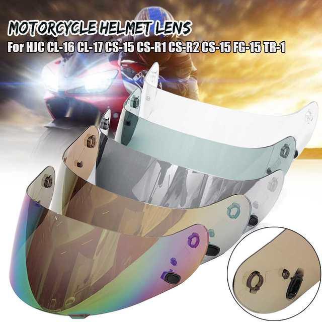 Para HJC CL-16 CL-17 CS-15 CS-R1 CS-R2 CS-15 FG-15 TR-1 Lente do Capacete Da Motocicleta viseira do capacete