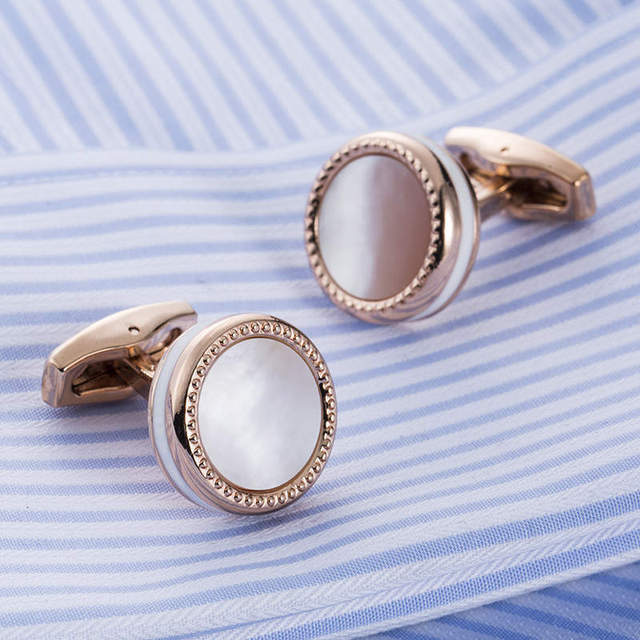 Hot Mother Pearl Male French Cufflinks Shirt Alta Cuff Links Wedding Gifts For Men Guests