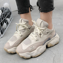 Brand Women Chunky Sneakers Platform Shoes Spring Laday Female Mesh Dad zapatos de mujer Tenis feminino