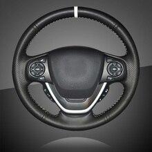 Ручной швейный Автомобильный руль Крышка для Honda Freed Авто оплетка на руль крышка автомобиля Стайлинг интерьерные аксессуары