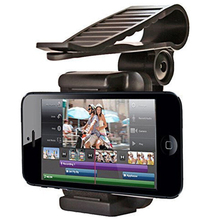 Car Phone Holder GPS Interior Stand Black Bracket Clip Mount Universal For 3.5 inch to 6 Cellphone