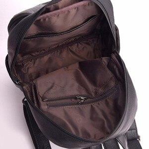 Image 4 - 2019 kobiet plecaki skórzane wysokiej jakości Sac Dos Femme panie plecak luksusowa projektanta plecak marki co dzień plecak na co dzień plecak