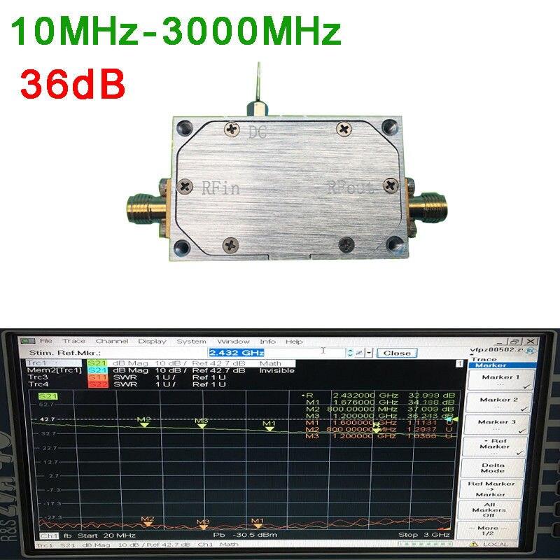 10MHz- 3000MHz 36dB Gain NF: 1.5 RF broadband low noise amplifier HF FM VHF UHF10MHz- 3000MHz 36dB Gain NF: 1.5 RF broadband low noise amplifier HF FM VHF UHF