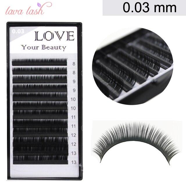 False 0.03mm Volume Eyelash Extensions Mixed Size 1 Tray/lot False Eyelashes Faux Mink Eyelashes Individual Eyelashes