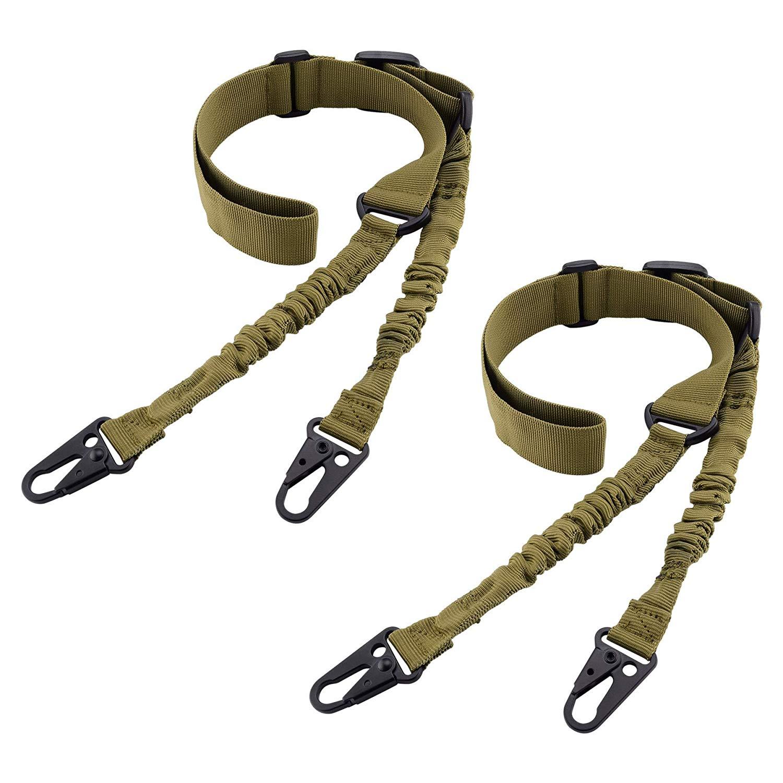 Tactical 2 Point Gun Sling Shoulder Strap Outdoor Rifle QD Metal Buckle Gun Belt