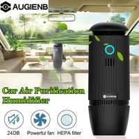 Onever Car Air Purifier 5V Negative Ions Air Cleaner Ionizer Air Freshener Auto Mist Maker Pm2.5 Eliminator Cup Car Charger