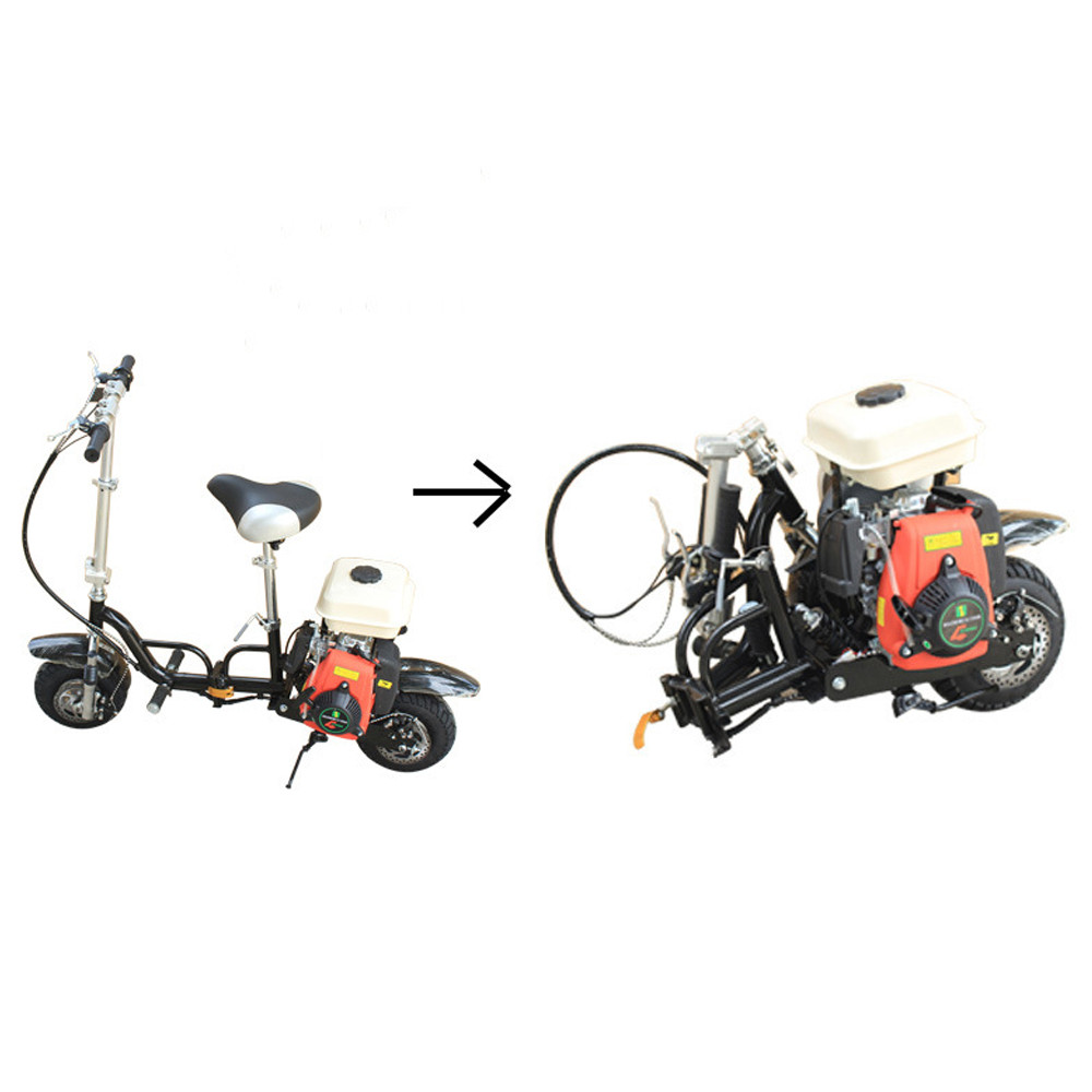 49cc Single Cylinder Air Cooled Foldable Portable Fuel Gasoline Motorcycle Scooter