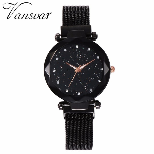 Mesh Magnet Buckle Starry Sky Watch 3