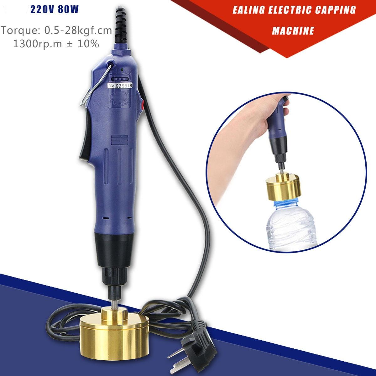 WARMTOO 10Pcs 80W Electric Bottle Capping Machine Manual Cap Sealing Sealer Machine 220V