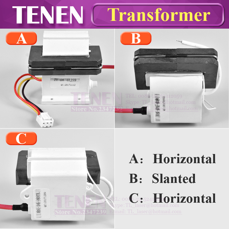 Cut Price High Voltage Flyback Transformer Ignition Coil for 30W 40W 45W  50W CO2 Laser Power Supply
