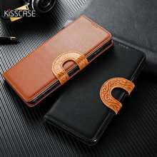 купить KISSCASE Litchi Pattern Holder Case For iPhone X 7 8 6 6S Plus Leather Flip Wallet Phone Case For iPhone X XR XS MAX Cover Funda по цене 263.32 рублей