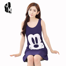 2017 New Arrival Liva Girl Sleeveless Character Above Knee, Mini Round Neck Spring None Nightgowns & Sleepshirts