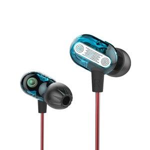 Image 2 - KZ ZSE في الأذن سماعة الألعاب الصوت شاشات Hifi الموسيقى سماعات خاصة ديناميكية محرك ثنائي سماعات الرياضة الأزرق سماعات