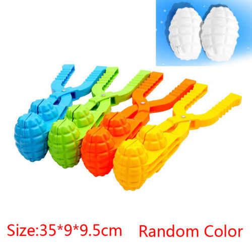 Инструмент для снежков снежный шар клип Зима Дети Совок чайник клип Детская уличная игрушки цвет случайный