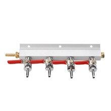 Muti Manier 2/4 Homebrew CO2 Air Gas Spruitstuk Distributie Splitter Met Geïntegreerde Terugslagkleppen Meerdere Lijnen Wijn Brouwen Tool
