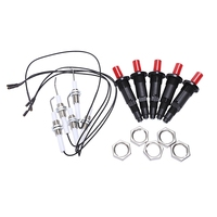 Gas Grill Push Button Kitchen Lighter Piezo Ignition Kit Universal Threaded Plug 5Pcs