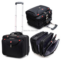 Cabin size Rolling Luggage Travel Suitcase Multifunction Business box Carry Ons Laptop Bag Trolley Case for Men and Women