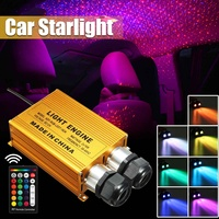 32W LED Car Light RGBW Atmosphere Ambient Lamp Car Interior Decor Lighting Double Head Starry Sky Optical Fiber Light