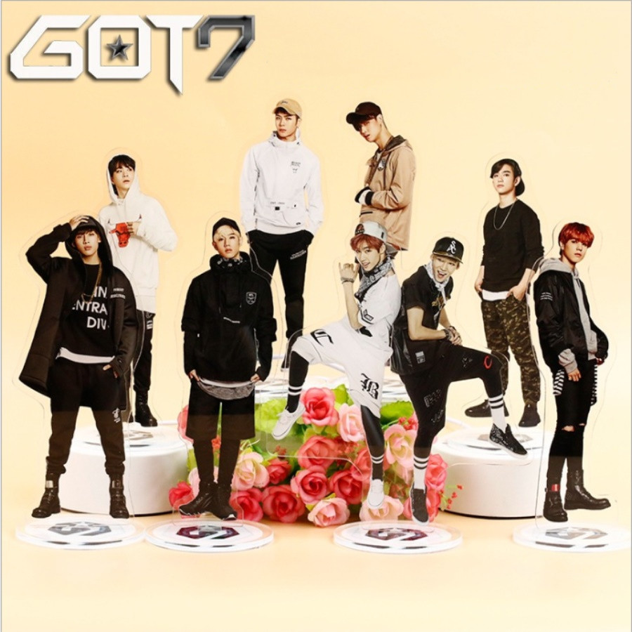 Kpop Got7 Members Acrylic Standee Action Figure Doll Jackson Jb Mark Jinyoung 21cm Standing Action Table Decor To Prevent And Cure Diseases Jewelry Findings & Components