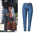 Джинсы с дырками для женщин  большие размеры  облегающие джинсы с высокой талией