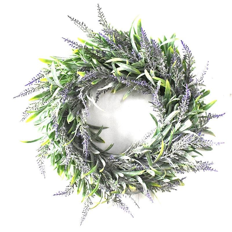 Artificial Flower Garland Silk Lavender Wreath Romantic Fresh Style Wedding Decor For Heads Take Photo Fashion Single Product