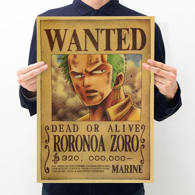 Cartel impreso de una pieza de Anime