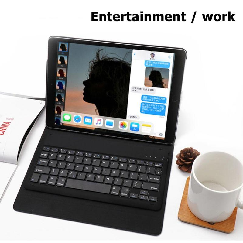 Wireless Bluetooth Keyboard Stand Case Cover For iPad Pro 11inch Leather Sleeve Case Cover Pouch Skin for Apple Pencil 2nd New
