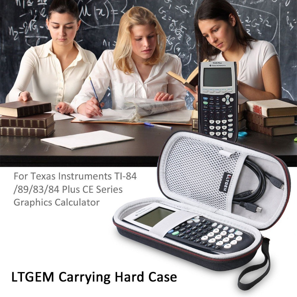 LTGEM EVA Hard Storage Travel Carrying Protective Case For Texas Instruments <font><b>TI</b></font>-84/89/83/Plus/CE Graphics Calculator image