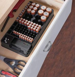 Image 5 - 테스터 배터리 캐디 랙 케이스 박스 홀더가있는 전체 배터리 스토리지 오거나이저 홀더 AAA AA C 용 배터리 체커 포함
