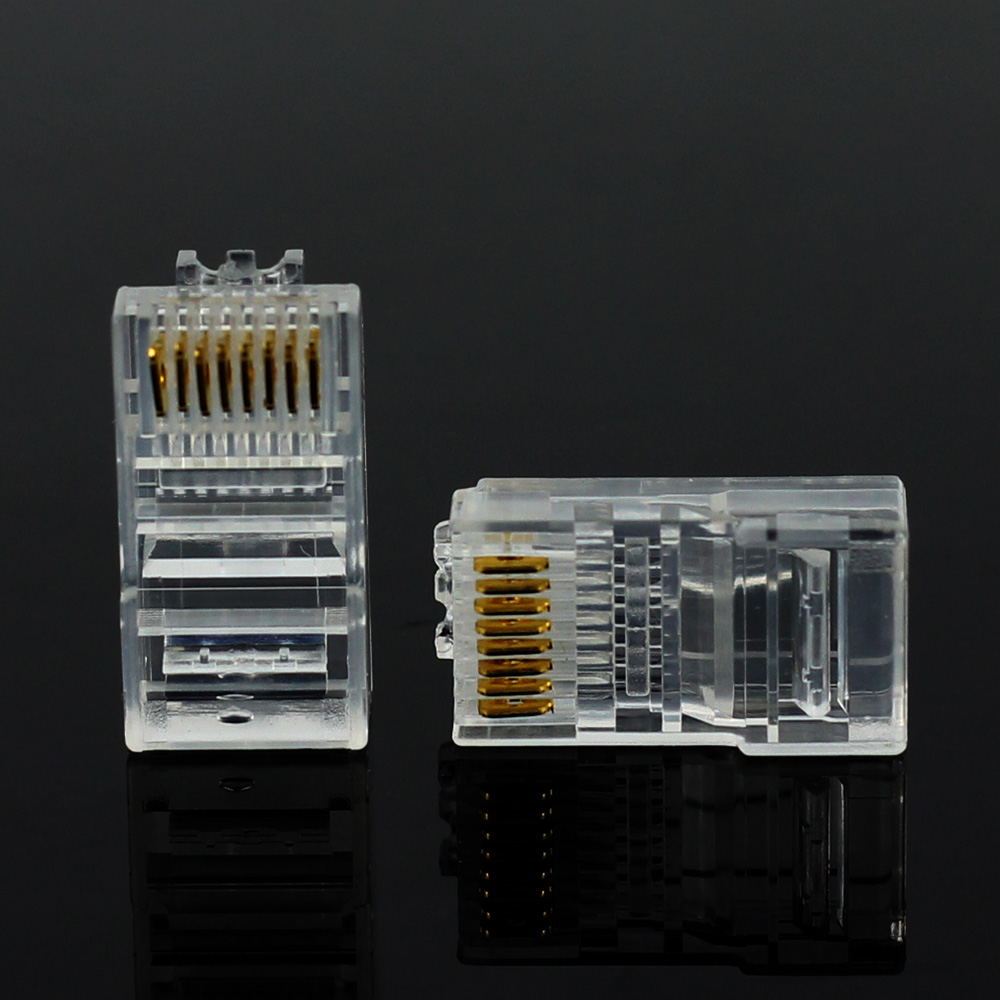 Image 4 - 20/50/100PCS Cat6 Cat6e RJ45 Ethernet Cables Module Plug Network Connector RJ 45 Crystal Heads Gold Plated Network Cable JONSNOW-in Computer Cables & Connectors from Computer & Office