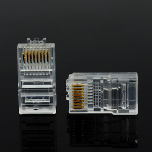 Image 4 - 20/50/100PCS Cat6 Cat6e RJ45 Ethernet Cables Module Plug Network Connector RJ 45 Crystal Heads Gold Plated Network Cable OULLX
