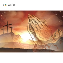 Laeacco Jesus Christ  Palm Cross Backdrop Photography Backgrounds Customized Photographic Backdrops For Photo Studio