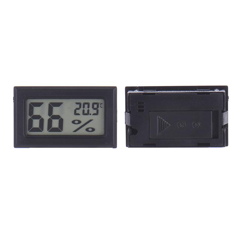 Image 2 - Mini Black Digital LCD Temperature Humidity Indoor Room Humidity Meter Thermometer Hygrometer Temperature Sensor Humidity-in Temperature Gauges from Home & Garden
