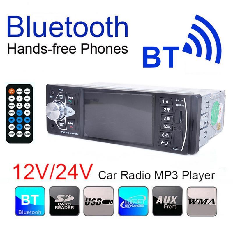 4.1 Pouces Voiture Lecteur Bluetooth Appel Stéréo FM MP3 Lecteur Support De Voiture Vidéo-4022D 2019 Nouveau Produit