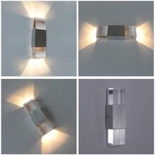 Modern LED wall light 6W acrylic sconce decorative lamp