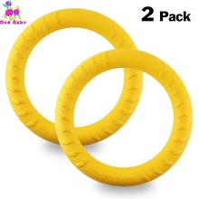 2PCS/Pack Dog Toys Ring Water Floating Outdoor Fitness Flying Discs Tug Of Interactive Training For Dogs Honden Speelgoed