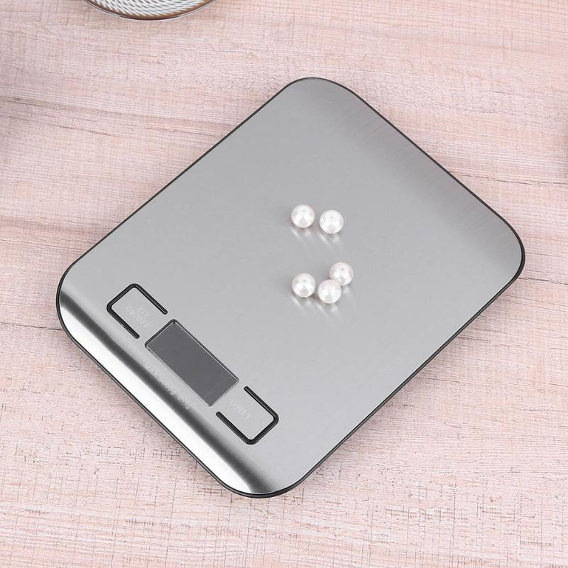 Image 5 - 5kg/1kg Digital Scale Kitchen Cooking Measure Tools Stainless Steel Electronic Weighing Tool LCD Electronic Bench Weight Scales-in Weighing Scales from Tools