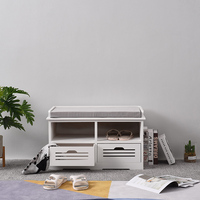 Shoe Rack Bench Shoes Organizer Storage Shelf With Drawer Entryway Hallway Bathroom Living Room Small Cabinet