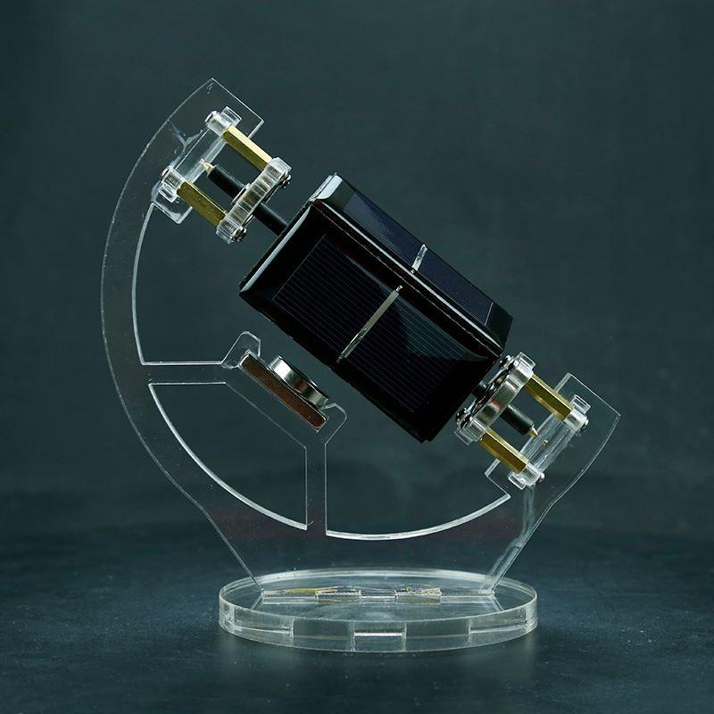 NEW Inclined Magnetic Levitation Mendocino Solar Motor Educational Model Toys School Lab Solar Panel Levitating Tilting Stand