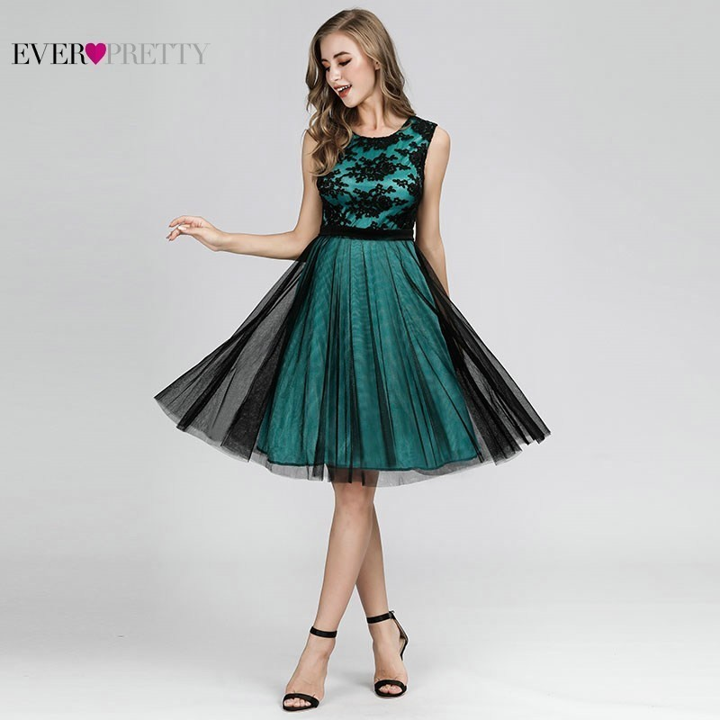 Sexy Contrast Color   Cocktail     Dresses   Short Ever Pretty A-Line Sleeveless Formal   Dresses   Elegant Gown For Party Abito Da   Cocktail