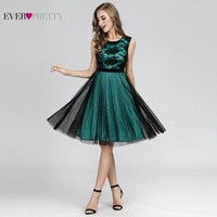 Sexy Contrast Color Cocktail Dresses Short Ever Pretty A Line Sleeveless Formal Dresses Elegant Gown For Party Abito Da Cocktail