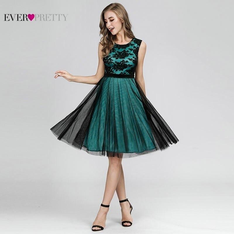 Sexy Kontrast Farbe Cocktail Kleider Kurze Immer Pretty A-Line Ärmellose Formale Kleider Elegante Kleid Für Party Abito Da Cocktail
