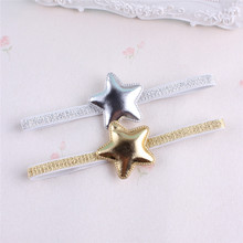 New Lovely Star and Crown Kid's Hair Band Baby Girl's Headwear Princess Baby Newborn Gold Silver Hairband Hair Accessories